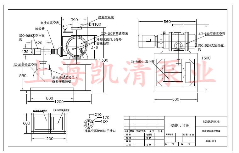 一、罗茨旋片真空机组的概述: JZJX型罗茨旋片真空机组是由ZJ型罗茨泵做为主抽泵,单级或双级旋片泵做为前级泵的低、高真空获得设备,整套机组安置在一个机架上,配以管道、阀门和电器操作控制箱,除最小二个规格外,还配有冷却水管系统机组结构紧凑、使用方便。在2X型旋片真空泵真空度达到极限时抽气速率不断降低,ZJ罗茨真空泵能使机组在极限真空时保持相对大的抽气速率.