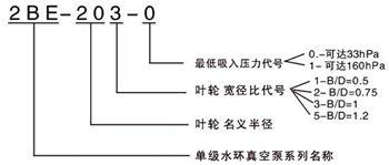 2BE真空泵型號意義